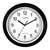 La Crosse Technology WT-3129B 12 Inch Atomic Analog Wall Clock, Black