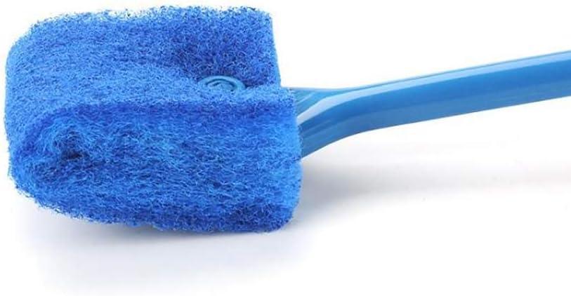 Blue Long Handle Double Sided Sponge Brush Algae Scraper for Acrylic Glass Aquariums kiniza weimii Aquarium Fish Tank Cleaning Brush
