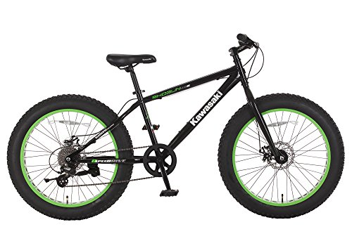 Kawasaki Shogun Fat Tire Bike, 24x4 inch wheels, Black