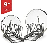 9+ Lids - BetterThingsHome Expandable Lid Holder: Total 10 Adjustable Compartments, Stores 9+ Lids, Can Be Extended to 22.25