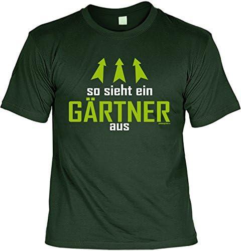Gärtner Sprüche-Motiv T-Shirt - Blechschild Deko Gärtnerei : So Sieht EIN Gärtner aus & Gartengott - Schild Landschaftsgärtner/Hobby-Gärtner/Schrebergarten