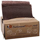 RestaurantWraps.com Interfolded Waxed Tissue, Basket Liner and Food Wrap, 6'' x 10.75'', Chocolate (10 Packs of 1000 Sheets)