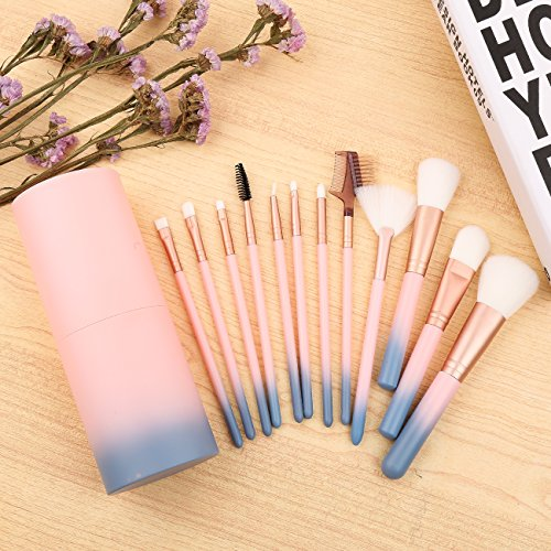 Makeup Brush Sets - 12 Pcs Makeup Brushes for Foundation Eyeshadow Eyebrow Eyeliner Blush Powder Concealer Contour