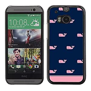 For HTC One M8,S-type® Pattern Blue Pink Minimalist Clean - Arte & diseño plástico duro Fundas Cover Cubre Hard Case Cover