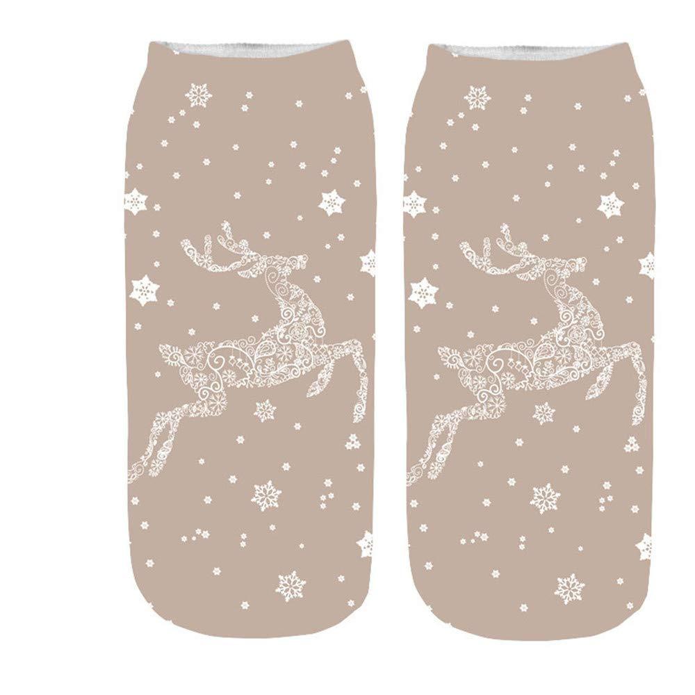 Women Girls Christmas Socks Comfortable Socks Xmas Cotton Sock Slippers Ankle Socks Festive Gifts Socks