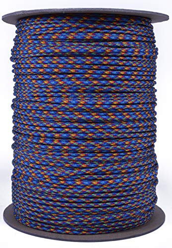 (Bored Paracord - 10', 25', 50', 100' & 250', 1000' Spools of Parachute 550 Cord Type III 7 Strand Paracord Well Over 300 Colors - Fire and Ice - 1000 Foot Spool)
