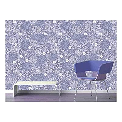 Large Wall Mural Lace Style Seamless Pattern Vinyl Wallpaper Removable Decorating, Made With Love, Handsome Portrait