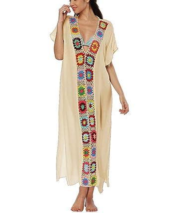 Camisa de Playa Traje de baño Cubierta Traje de baño Vestido de ...