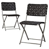 "Thresholdâ""¢ Russell 2-Piece Strap Patio Dining Chair Set"
