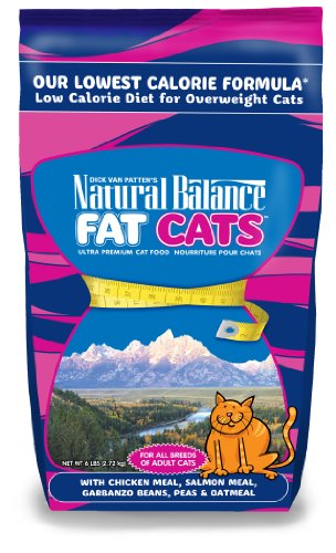 Lean Mass Complex Meal - Natural Balance 236037 6-Pack Fat Cats Low Calorie Dry Cat Food, 6-Pound