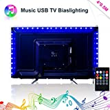 LED Strip Lights, Music LED TV Backlight USB 2M/6.56ft Color Change Sync To Beats of Music LED Light Strips For 40 To 60 IN HDTV RGB Flexible TV Light with IR Remote, LED TV Bias Lighting Review
