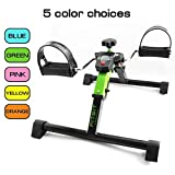 Platinum Fitness FitSit Deluxe Folding Pedal Exerciser Leg Machine with Electronic Display, Green