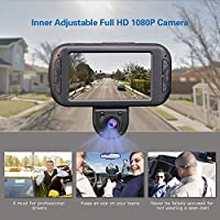 Parking Guard Supports 64GB Memory Cards for Rideshare Drivers Full HD 1080p Rotatable Inner Camera Wireless SOS Button Included Night Vision Provision-ISR Dual Dash Cam G Sensor PROVISION ISR 4347638129