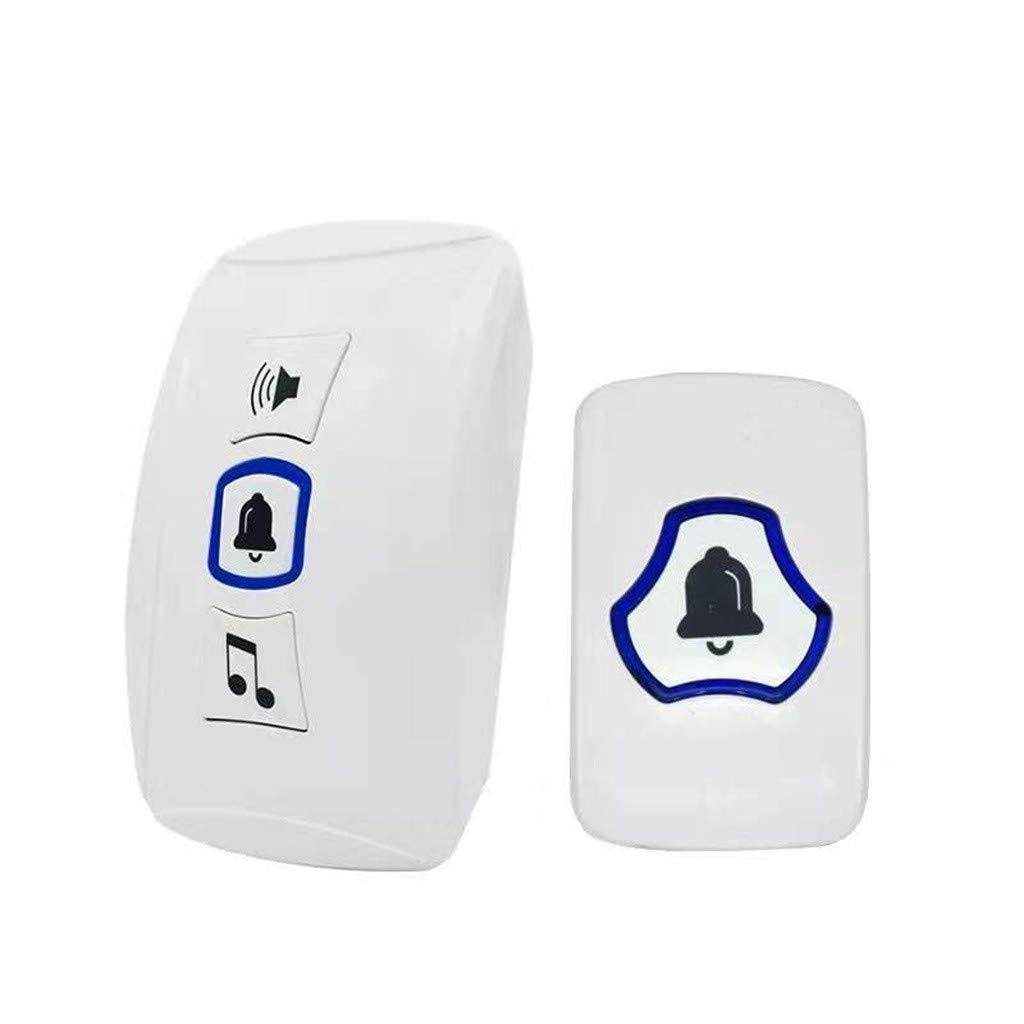 Sonmer Smart Wireless Buzzer Doorbell, Build-in 32 Songs, 4 Volume Level,Up to 660ft Control Range