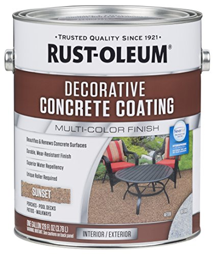 - Rust-Oleum 301303 Decorative Concrete Coating, Sunset
