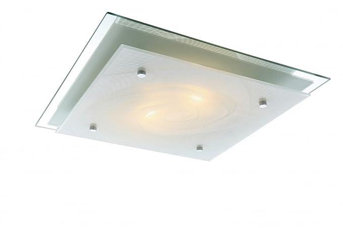 GLOBO sonar techo lámpara blanca 2xE27