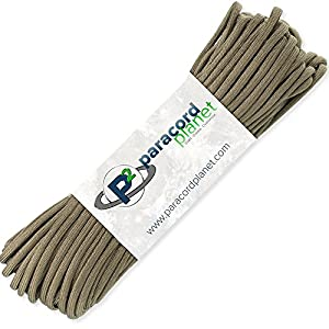 Paracord Planet 100' Hanks Parachute 550 Cord Type III 7 Strand Paracord Top 40 Most Popular Colors (Coyote Brown)