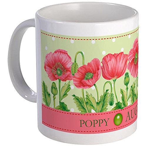 Best deals on august birth flower poppy products cafepress birth flowers and gem mug august unique coffee mug coffee cup mightylinksfo