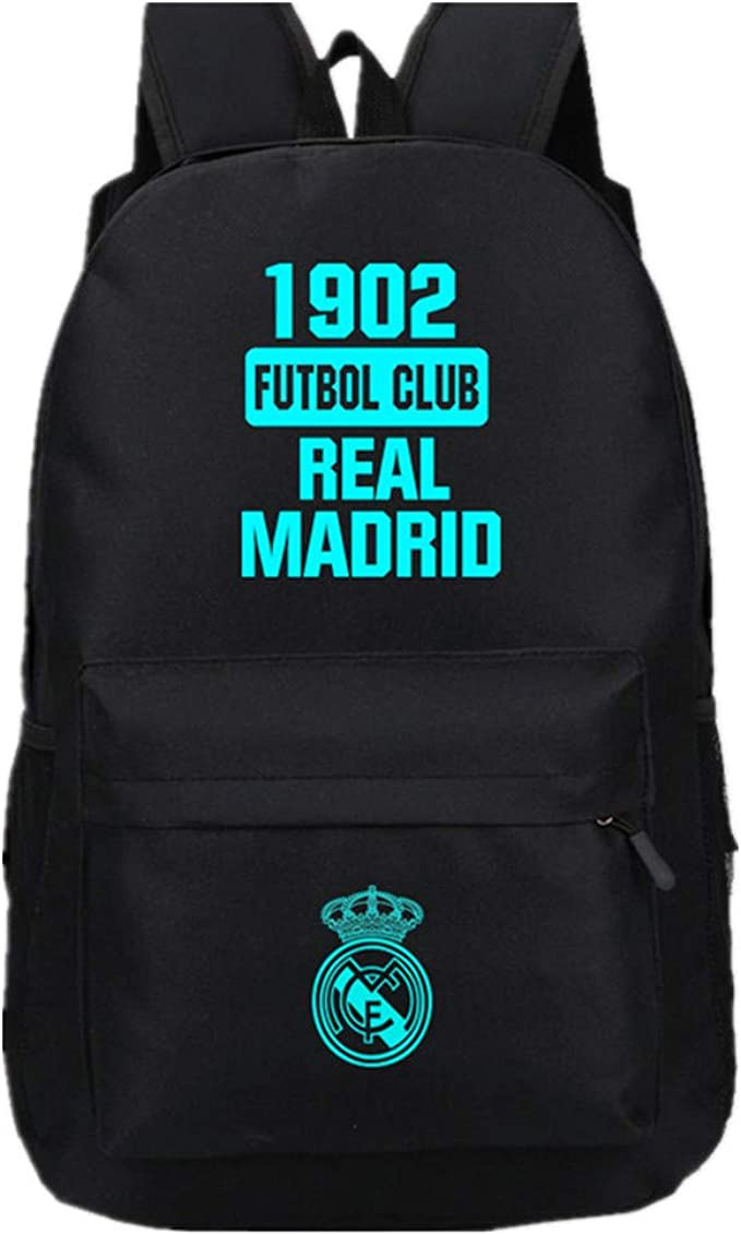 REAL MADRID BACKPACK School Backpack Club Rucksack Official Product BRAND NEW!!