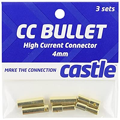 Castle Creations CCBUL4X3 4mm Bullet Connector 16G/13G 75A (3): Toys & Games
