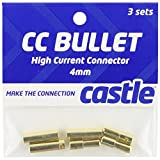 4mm bullet connector - Castle Creations CCBUL4X3 4mm Bullet Connector 16G/13G 75A (3)