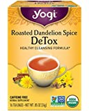 Yogi Tea, Roasted Dandelion Spice Detox, 16 Count (Pack of 6), Packaging May Vary