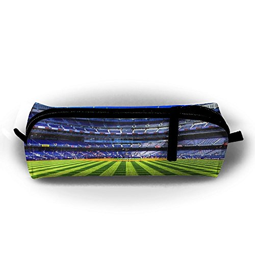 Amazing Football Stadium Unisex Pen Bag Zipper Cosmetic Bags Cylindrical Purse
