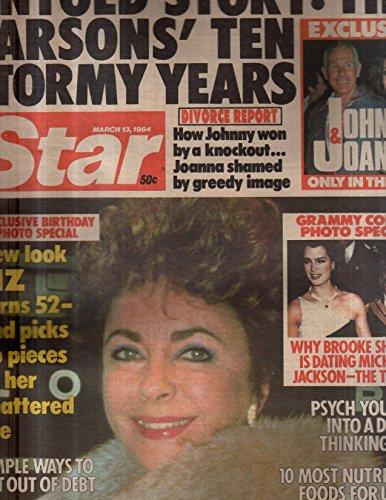 Star 1984 Mar 13 Michael Jackson,Brooke Shields,Liz Taylor,Johnny Carson & Wife