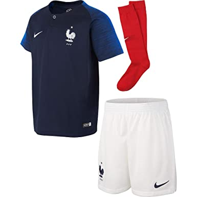 a5897ef5e Amazon.com: Nike France Home Infant Kit 2018/2019-116-122 cm: Clothing