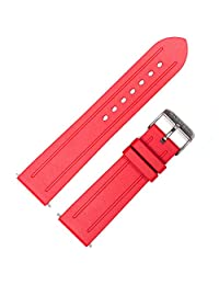 MARATHON WW005008RD 22mm Chronograph Vulcanized Rubber Replacement Watch Band in Red