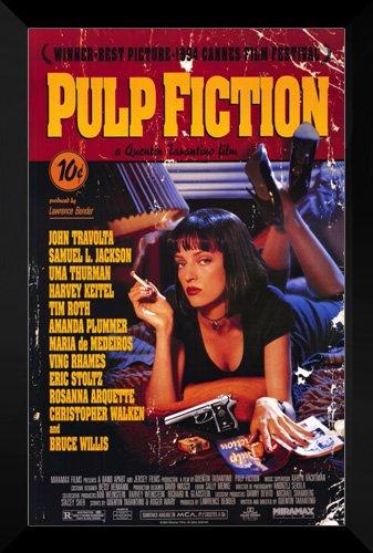 Pulp Fiction FRAMED 27x40 Movie Poster: John Travolta