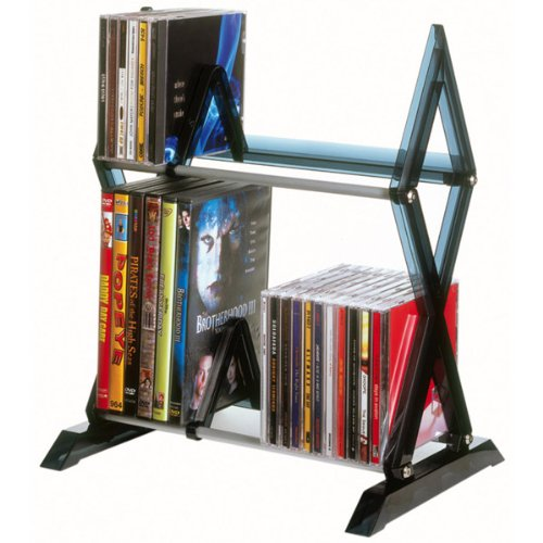 Atlantic - 56-Cd Or 36-Dvd/Blu-Ray , 2-Tier Mitsu Multimedia Storage Rack