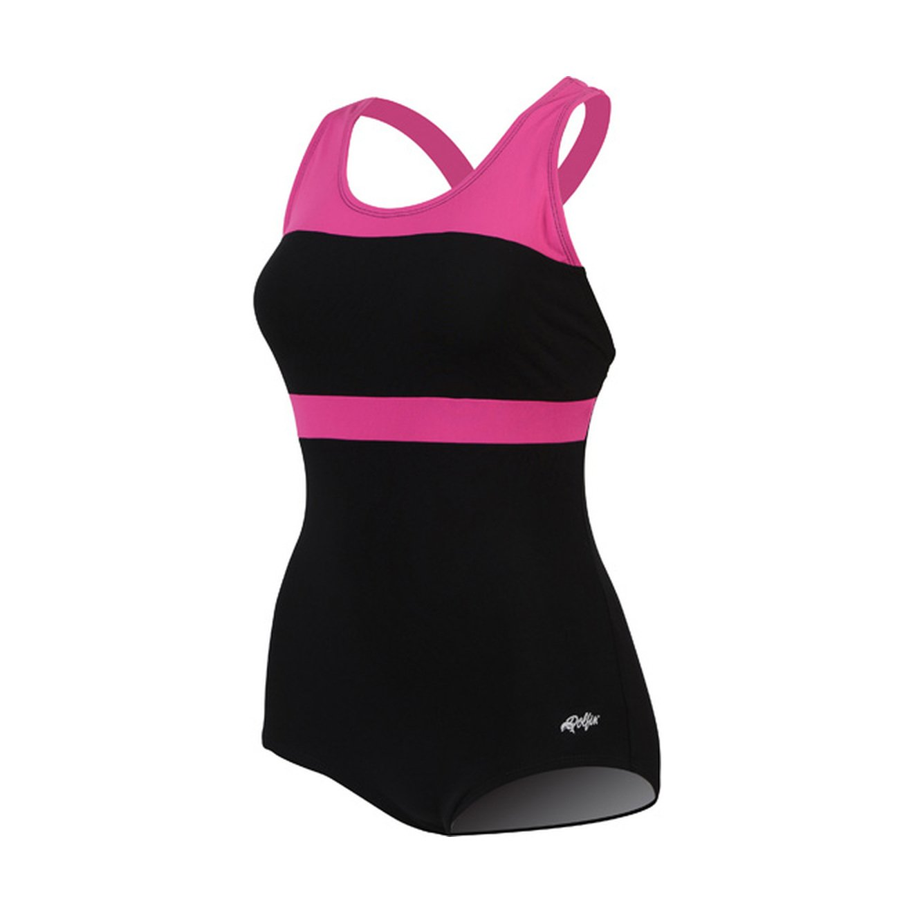 DolfinスプラッシュConservative Lap Suit Womens B00UB2ABEC 16|ブラック/ピンク