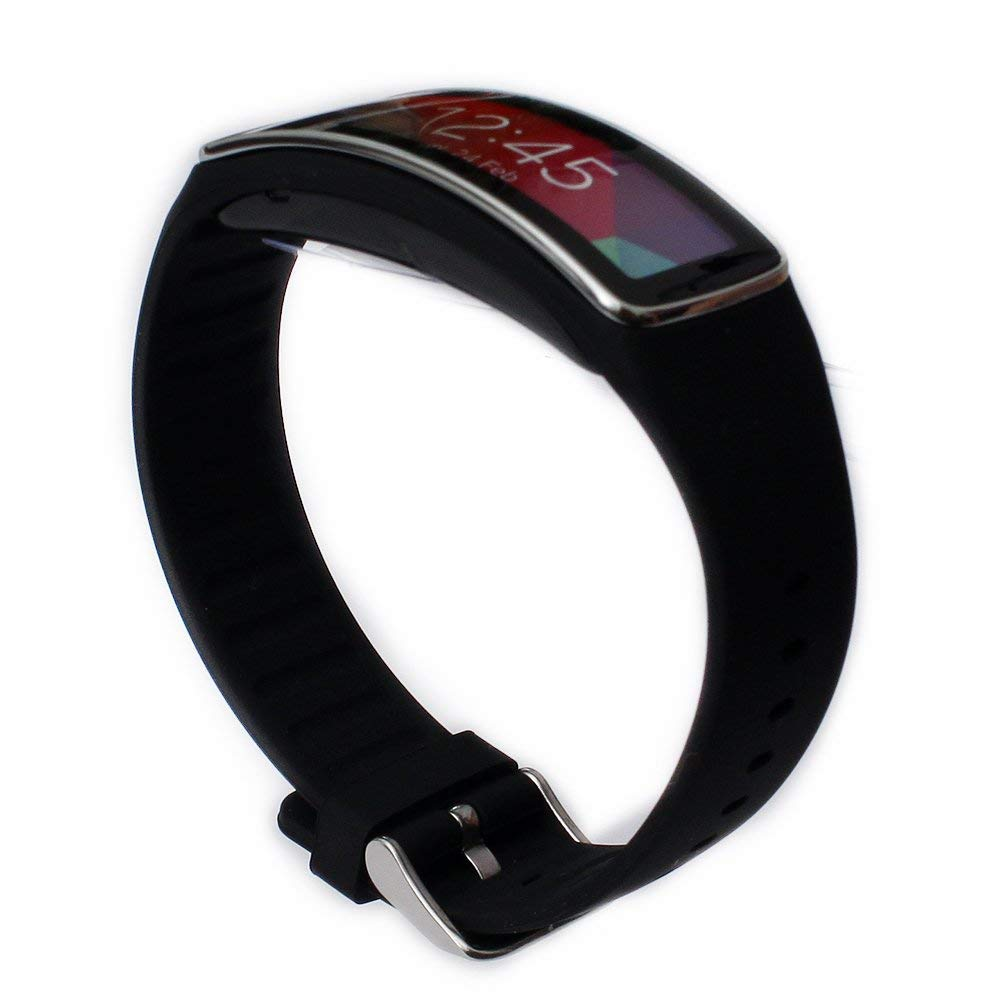 Eletespt Wireless Replacement Band Strap for Samsung Galaxy Gear Fit R350 Smartwatch Bracelet Accessories Bands (Black) by Eletespt (Image #3)