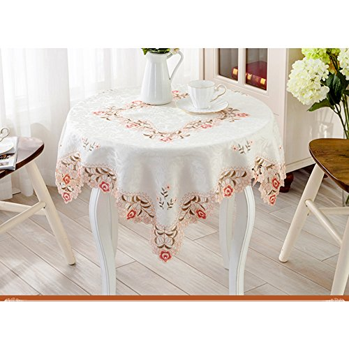High grade cotton lace tablecloth table towel rectangular gorgeous american european style dinning room christmas decoration-A - Wine 828