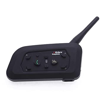 CARCHET - Sistema manos libres para motos (Bluetooth), color negro