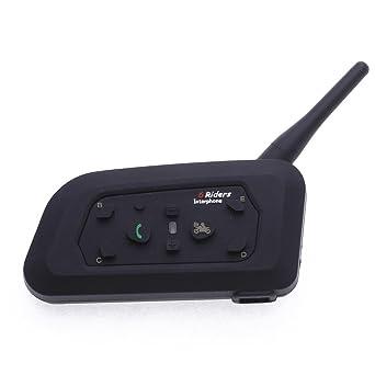 CARCHET - Sistema manos libres para motos (Bluetooth), color negro