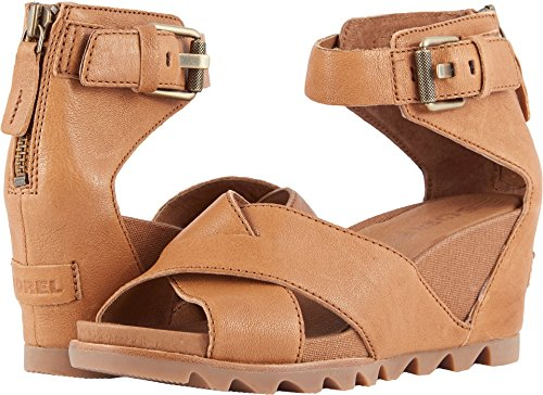 Sorel Women's Joanie Sandal Ii Camel Brown Ankle-High Leathe