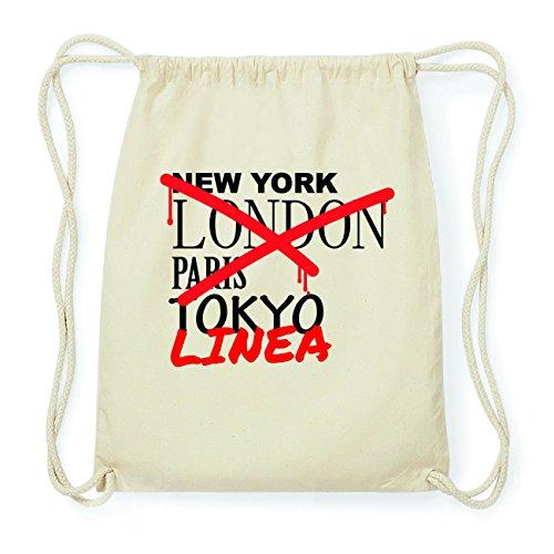 JOllify LINEA Hipster Turnbeutel Tasche Rucksack aus Baumwolle - Farbe: natur Design: Grafitti