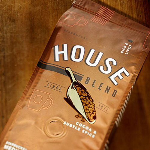 STARBUCKS HOUSE BLEND WHOLE BEAN COFFEE - MEDIUM ROAST - 227g
