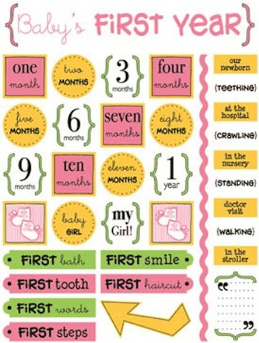 (SRM Stickers Live Life Baby's 1st Year Girl)