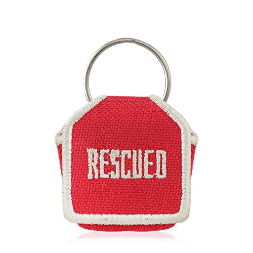 The Tag Bag - Dog Tag Silencer (Rescued/Red)