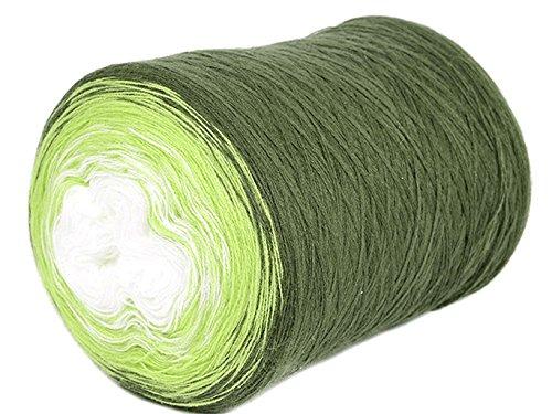 - ZuzuHobby Acrylic Yarn Cake, Big roll, Ombre Effect, Hand Knitting, Crocheting, Knitting Yarn for Machine Knitting, Multicolor, 15 Ounces / 2187 Yards (008)