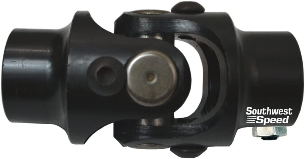 1-48 SPLINE TO 1 DOUBLE D NEW SOUTHWEST SPEED STEERING U-JOINT 30 DEGREES OF USE ON STEERING SHAFT COLUMN BOX RACK HIGH STRENGTH BLACK OXIDE UNIVERSAL JOINT WITH NEEDLE BEARINGS