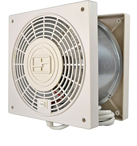 Suncourt ThruWall 2-Speed w/Airflow Adapter Room to Room Fan, Indoor Air Ventilation