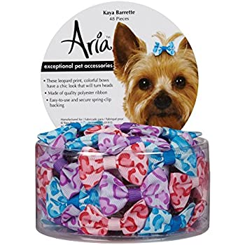 Amazon Com Aria Kaya Barrettes For Dogs 48 Piece