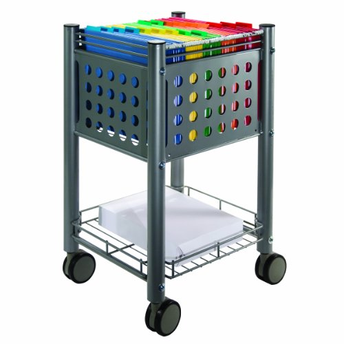 Vertiflex Mobile Sidekick File Cart, 13.75 x 15.5 x 26.25 Inches, Matte Gray (VF52002)
