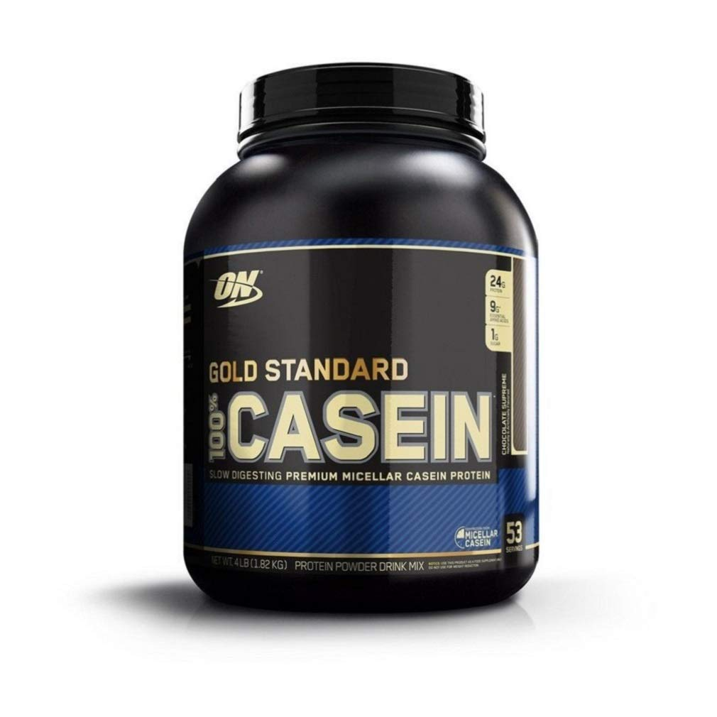 OPTIMUM NUTRITION GOLD STANDARD 100% Micellar Casein Protein Powder, Slow Digesting, Helps Keep You Full, Overnight Muscle Recovery, Chocolate Supreme, 4 Pound , 53 servings by Optimum Nutrition