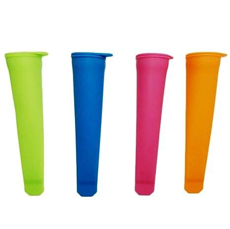Fiesta - Molde de silicona para hacer paletas de hielo, con tapa, color al