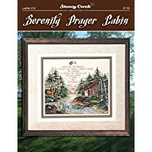Serenity Prayer Cabin (Leaflet 210) Cross Stitch Chart and Free Embellishment
